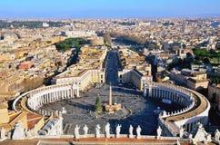 Skymt av piazza San Pietro arkivbild