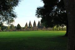 Skymt av Prambanan Fotografering för Bildbyråer