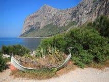 Skymt av reserven för CapoGallo natur Arkivfoto