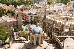 Skymt av Seville, Spanien Arkivbild