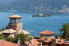 Skymt sjö Maggiore Royaltyfri Fotografi