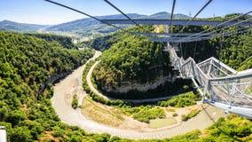 SKYPARK AJ Hackett Sochi - longest suspended footbridge skybridge length, Adventure Park first in Russia Stock Images