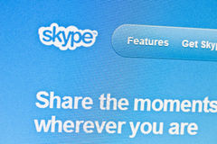 Skype Photo stock