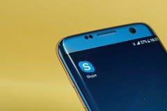 Skype-Anwendungsikone Stockbilder
