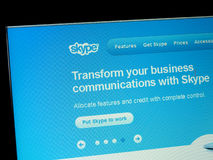 Skype home page Royalty Free Stock Photography