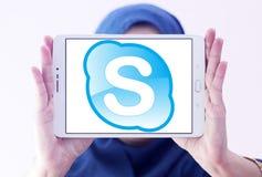 Skype logo Royaltyfri Fotografi