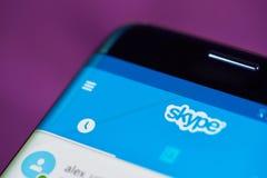 Skype menu zakończenie Obrazy Stock