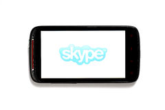 Skype phone Royalty Free Stock Image