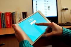 Skype sieć na cyfrowej pastylce Obrazy Royalty Free