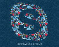 Skype Social Media Icons Royalty Free Stock Photos
