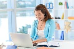 Skype teknologi Royaltyfria Foton
