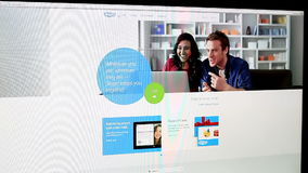Skype website stock video