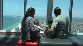 SkyPoint Observation Deck stock video footage