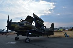 A-1 Skyraider royalty-vrije stock afbeelding