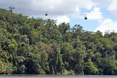Skyrail в национальном парке ущелья Barron стоковое фото