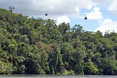 Skyrail in Barron Gorge National Park stock foto
