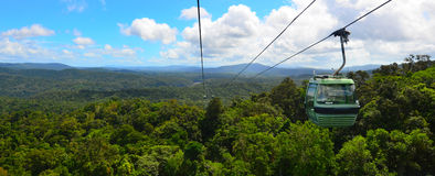 Skyrail Rainforest Cableway above Barron Gorge National Park Que Royalty Free Stock Photos