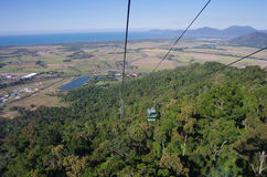 Skyrail Rainforest Cableway in Australia. Skyrail Rainforest Cableway is a scenic cableway running above the Barron Gorge National Park from the Cairns suburb of Royalty Free Stock Photos