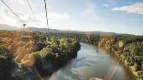 Skyrail Rainforest Cableway, Queensland, Australia. Skyrail Rainforest Cableway, at 7.5km the longest cable car in the world, Kuranda, Queensland, Australia stock photo