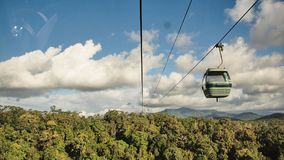 Skyrail Rainforest Cableway, Queensland, Australia. Skyrail Rainforest Cableway, at 7.5km the longest cable car in the world, Kuranda, Queensland, Australia stock photo