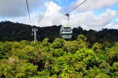 Skyrail RainforestCableway ovanför Barron Gorge National Park Que arkivbilder