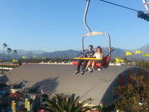 Skyride at the Los Angeles County fair in Pomona. A view of the fair from 300 feet in the air on the skyride, an Arial tramway Stock Image