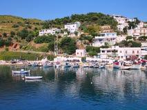 Skyros, aldeia piscatória grega da ilha Foto de Stock Royalty Free