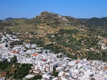 Skyros Chora, Grécia Foto de Stock Royalty Free