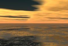 Skys alaranjados Fotografia de Stock Royalty Free