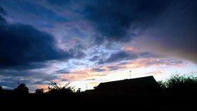 Skys antrim da noite Foto de Stock