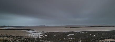 Skys déprimés Severn Estuary Image libre de droits