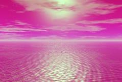 Skys rosados Imágenes de archivo libres de regalías