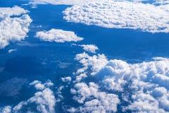 Skyscape从飞机观看了 免版税库存照片