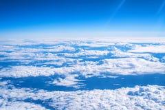 Skyscape从飞机观看了 库存图片