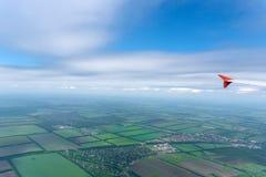 Skyscape που αντιμετωπίζεται από το αεροπλάνο Στοκ φωτογραφίες με δικαίωμα ελεύθερης χρήσης