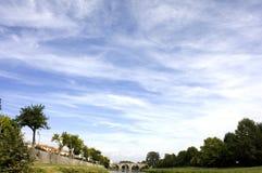 Skyscape в Франции Стоковое фото RF
