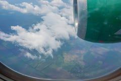 Skyscape осмотрело от самолета Стоковое фото RF