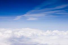 Skyscape从飞机射击了 免版税库存照片