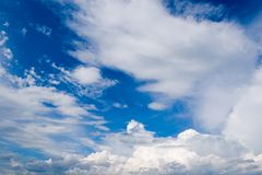 Skyscape. Sky before a rain.Wind Royalty Free Stock Image