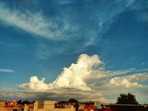 Skyscape. Beautiful formation of clouds royalty free stock photography