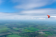 Skyscape beskådade från flygplanet Fotografering för Bildbyråer