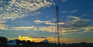 skyscape e montanha Imagem de Stock Royalty Free