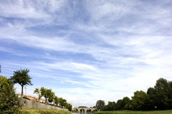 Skyscape i Frankrike Royaltyfri Foto