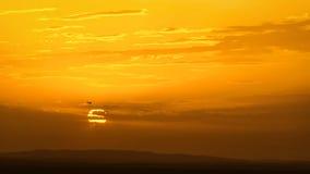 Skyscape med nivån på solnedgången Fotografering för Bildbyråer