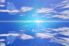 Skyscape met Maan Stock Foto's