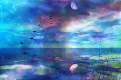 Skyscape with Moon Royalty Free Stock Image