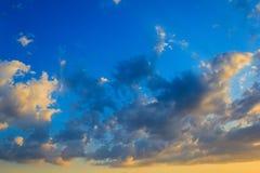 skyscape no por do sol Foto de Stock Royalty Free