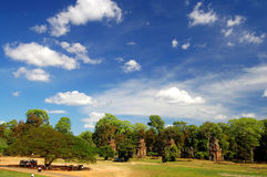 Skyscape of Prasat Suor Prats, Combodia Royalty Free Stock Photography