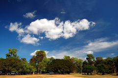 Skyscape of Prasat Suor Prats, Combodia Royalty Free Stock Photos