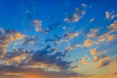 skyscape przy zmierzchem Fotografia Royalty Free
